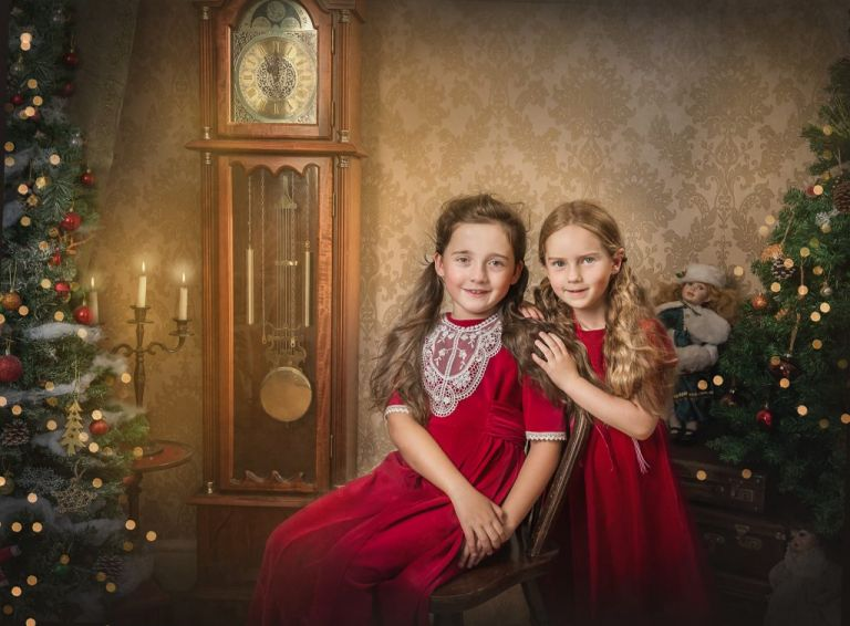 victorian christmas photo session